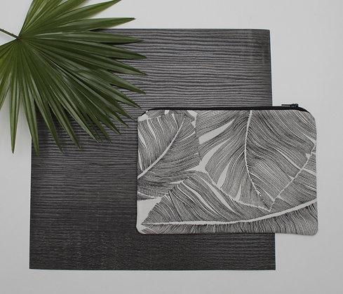 Pochette feuilles black