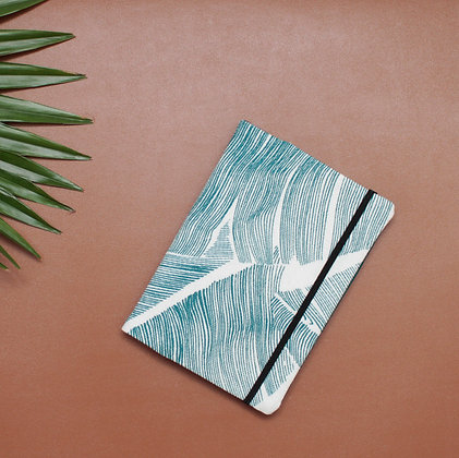 Protège passeport feuilles green