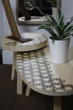 Asanoha tables