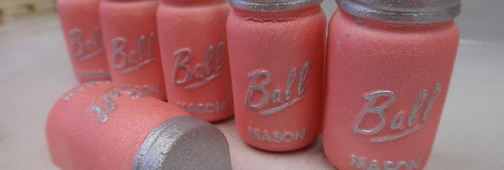 Pink Sugar Mason Jar Bath Art Bath Bomb