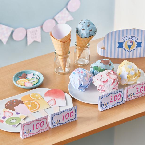 アイスクリーム屋さんごっこ素材(キャノンクリエイティブパーク)