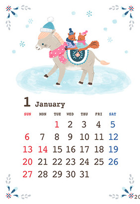 KADOKAWA 様「もらってうれしいおしゃれな年賀状」「世界一かんたん年賀状」カレンダー