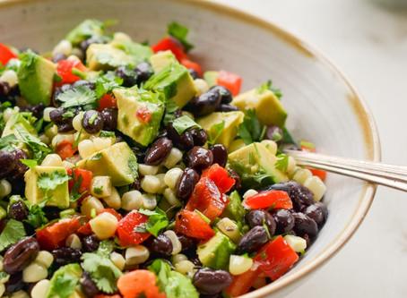 A Summer Delight: Black Bean Salad with Corn, Avocado & Lime Vinaigrette