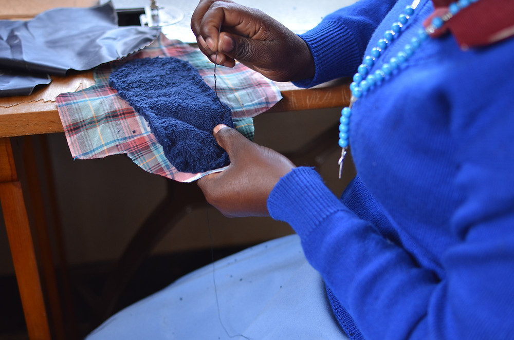A session for making reusable sanitary pads. (Photo courtesy of TAI studio)