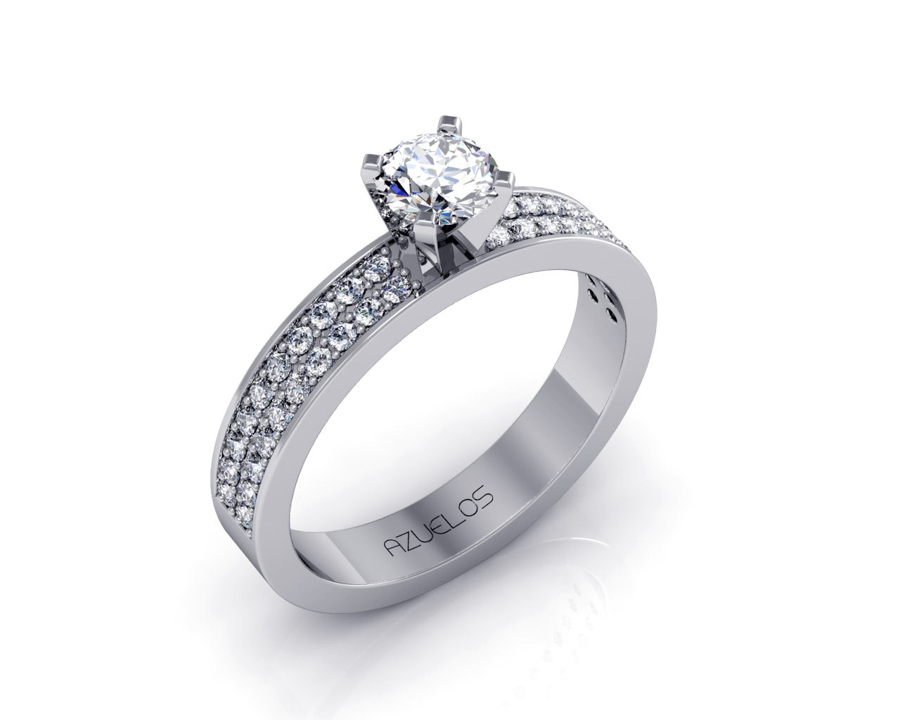 Diamond Engagement Ring AZ009