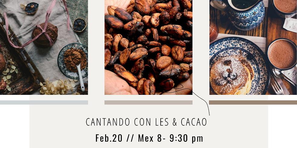 Cantando con Les y Cacao // Singing with Les & Cacao.