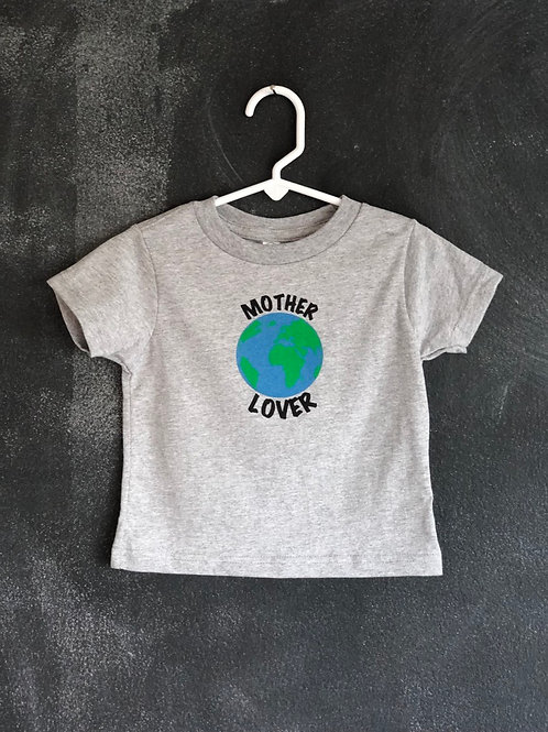 Mother Lover Toddler Tee Gray
