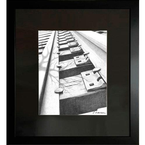 railroad art, railroad drawing, rails art, rails drawing, train art, train drawing, traintracks art, traintrack drawing