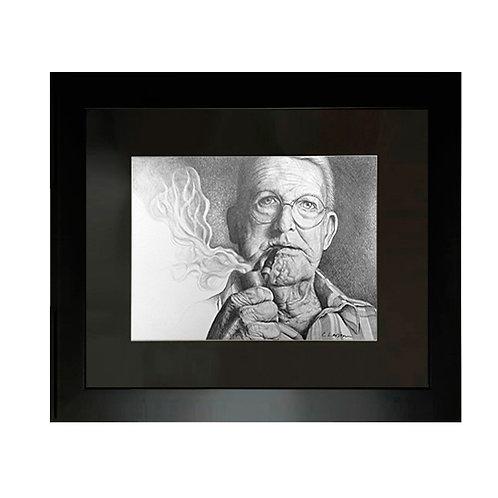 'Pipe Dream' Framed Original Pencil Drawing