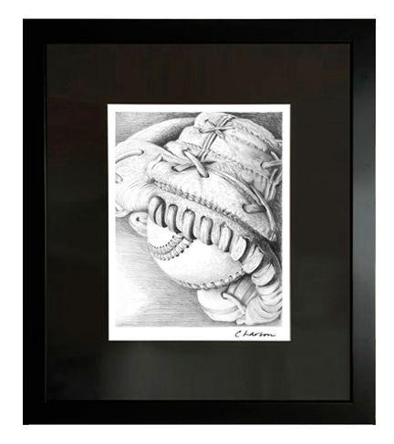Baseball art, All American art, Americas game art, baseball artwork, baseball glove art