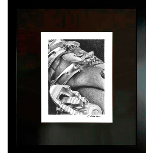 'Buckle Up' Framed Original Pencil Drawing