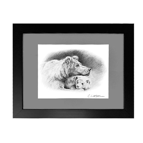 'Line Crossed' Framed Original Pencil Drawing