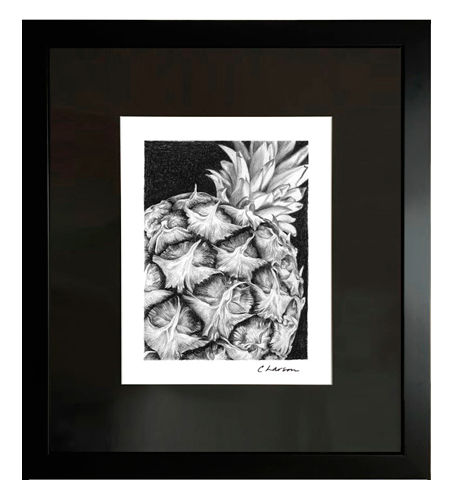 Pineapple art, pineapple drawing, pineapple pencil drawing, amazing pineapple, aloha art, hawaiian art