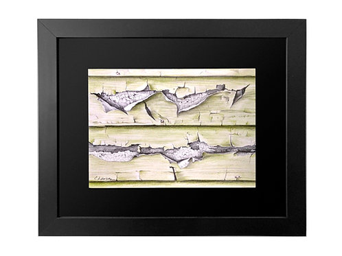 'Scituate Clapboard' Framed Original Pencil Drawing