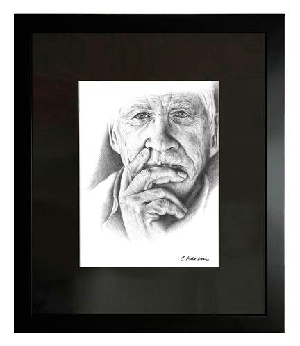 gentleman art, grandfather art, amazing portrait, hand and face art, male figure art