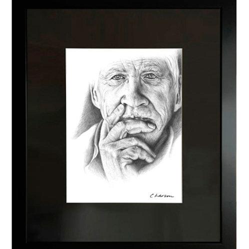 man art, male face art, grandpa art, grandfather art, grandfather drawing, older face art, older face drawing
