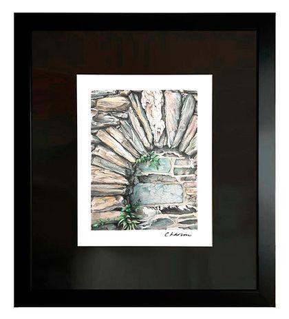 Hardscape art, Rock art, archway art, Masonry drawing, Masonry art, Stone arch drawing, Stone art
