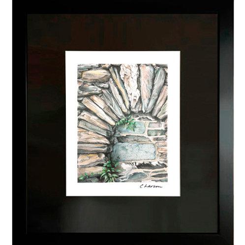 hardscape art, masonry art, stonework art, hardscape drawing, beautiful art, natural art, landscape art