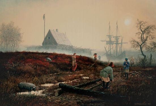 Len Tantillo painting