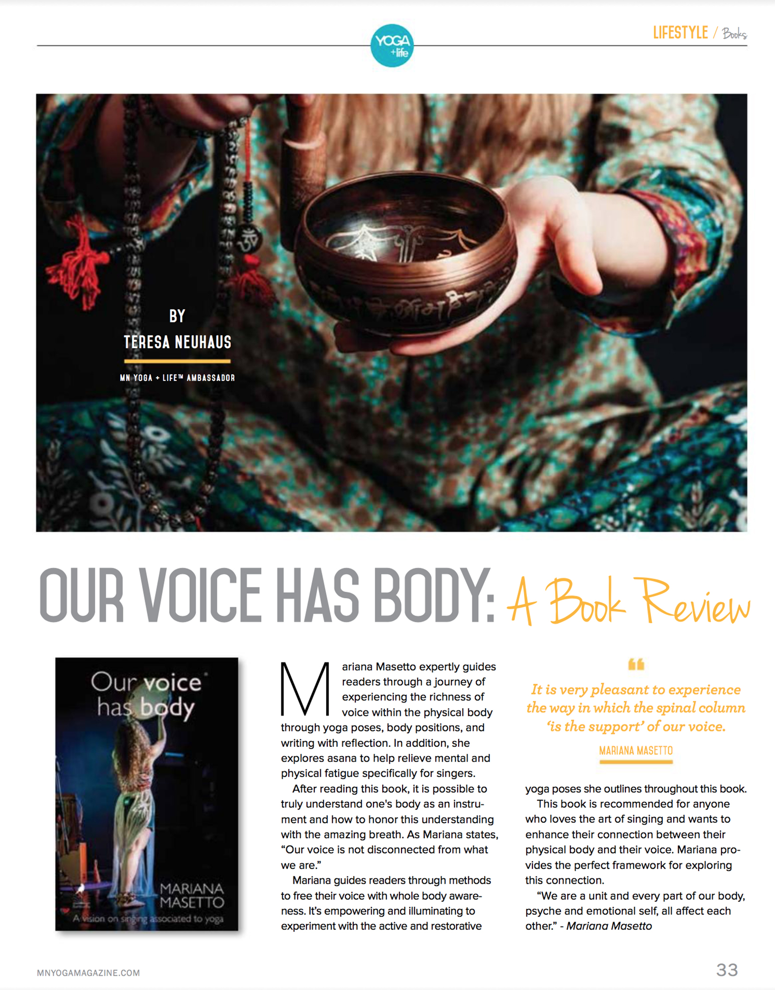 Review en la revista NMYoga USA