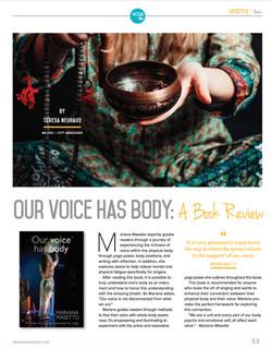 Review en la revista NMYoga USA