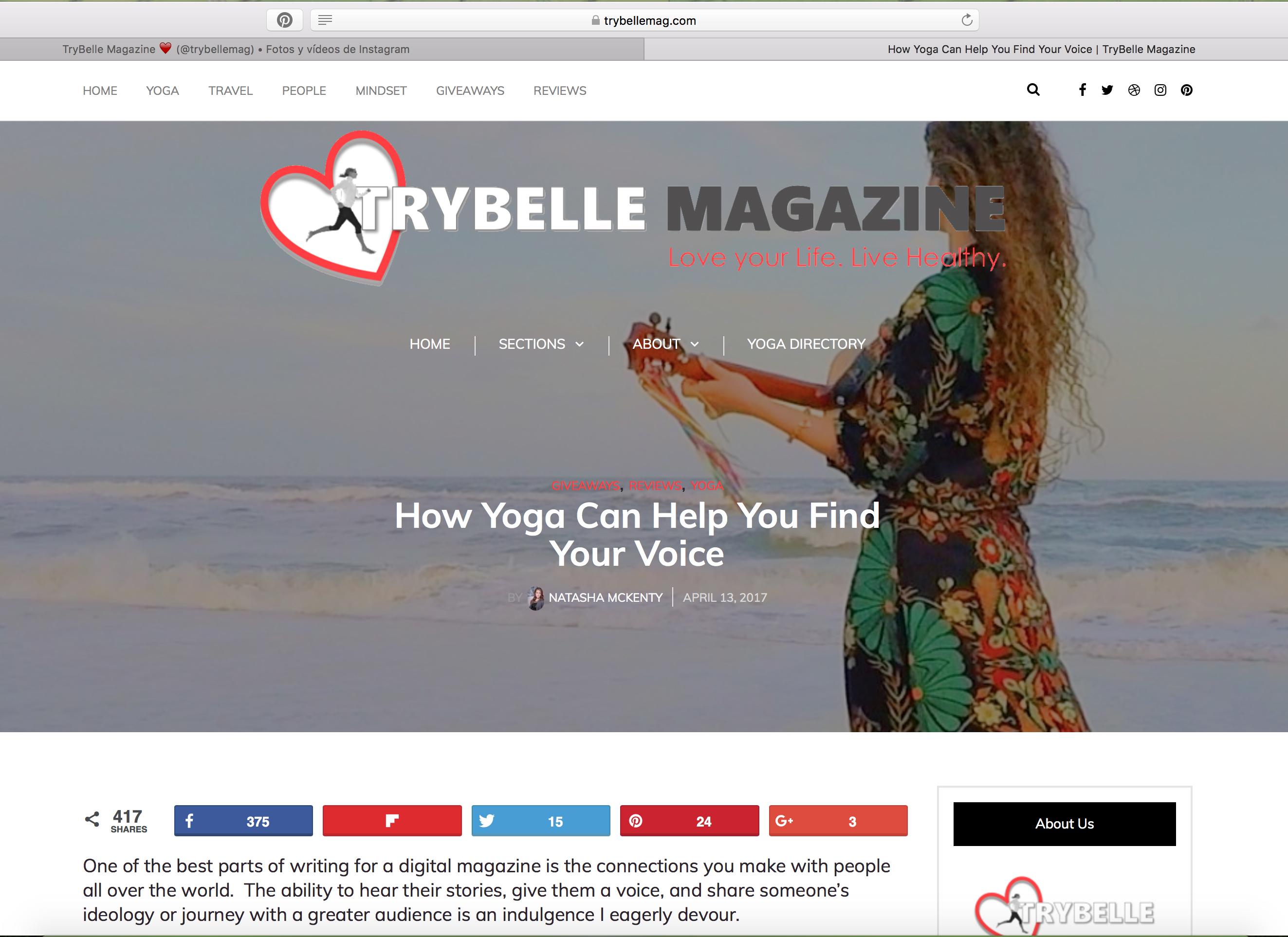 Trybelle Magazine Canadá