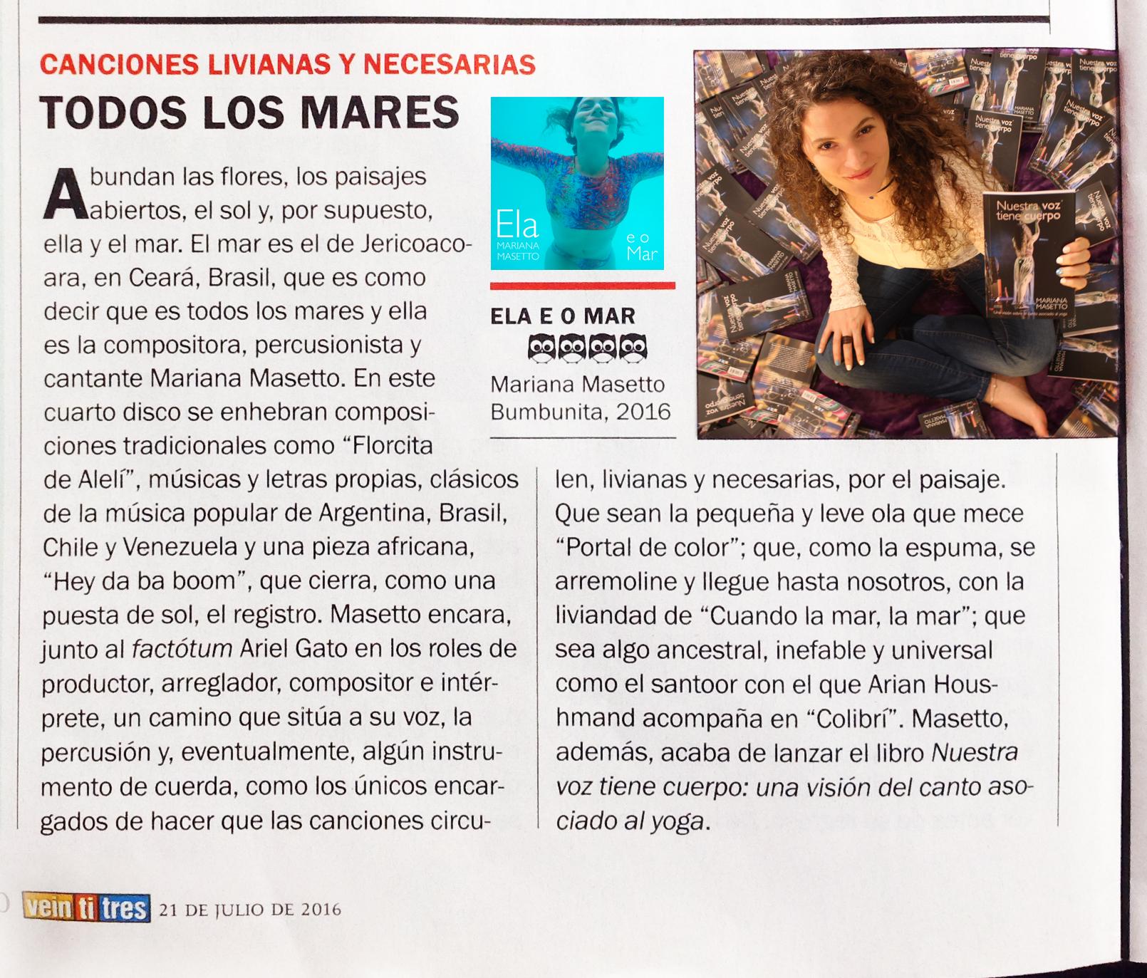 Reseña revista 23