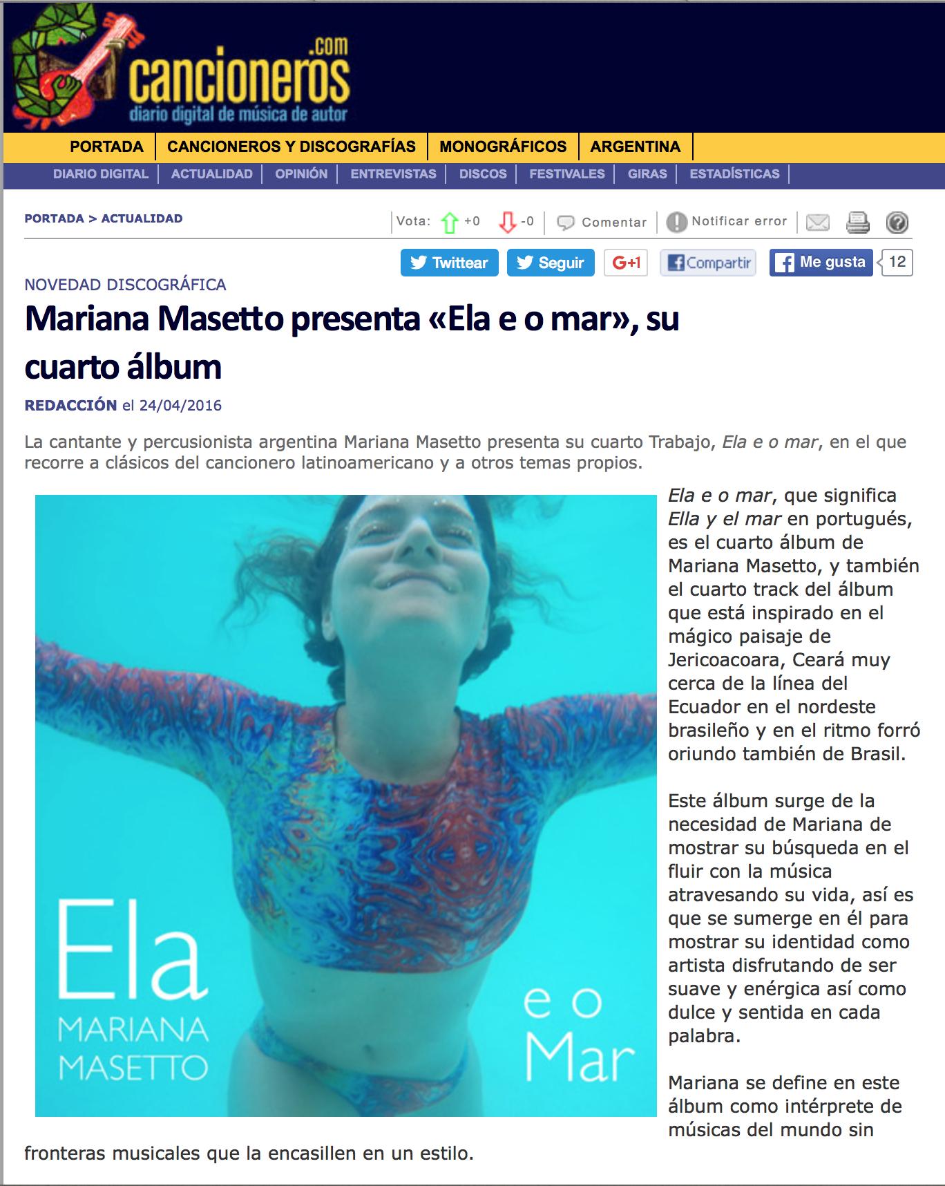 Portal Cancioneros.com, España