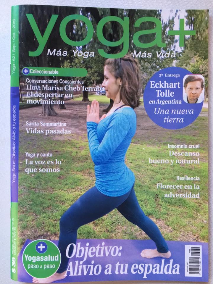 Tapa revista Yoga+ Octubre