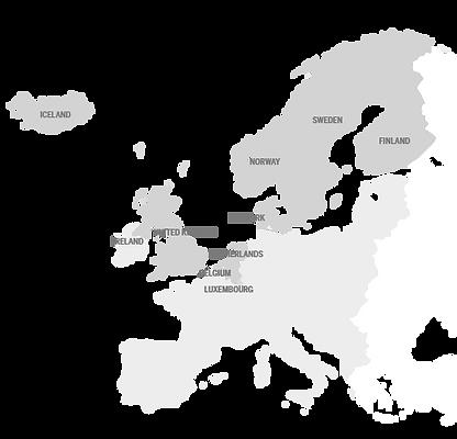 European map where TSH provide medical assistance