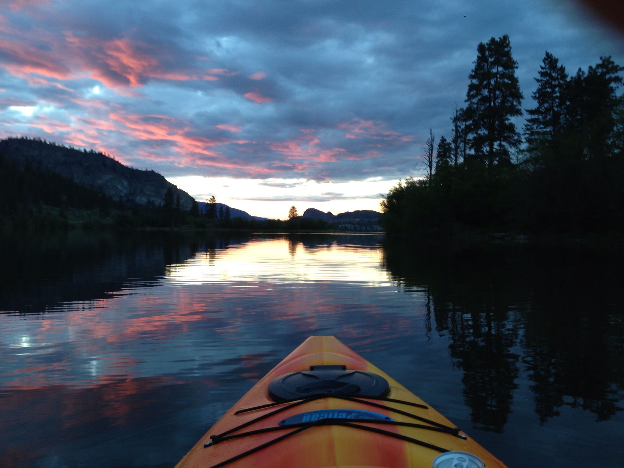 Kayaking West of the Island at Sunse