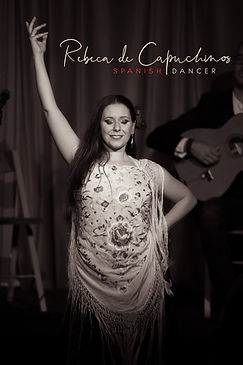 Rebeca. Flamenco dancer in Ireland.