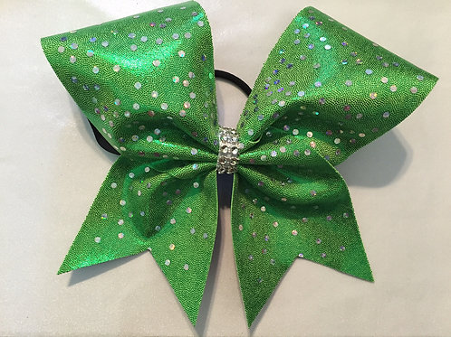 Green Mystique Cheer Bow with Spangles