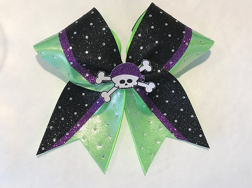 Pirate Theme Cheer Bow