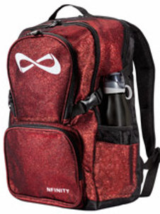 Red Glitter Nfinity Backpack
