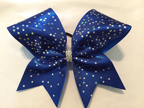 Royal Blue Mystique Cheer Bow with Spangles