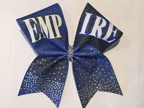Empire Royal  Glitter Bow with Rhinestones