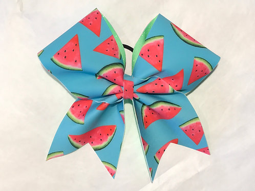 Watermelon cheer bow