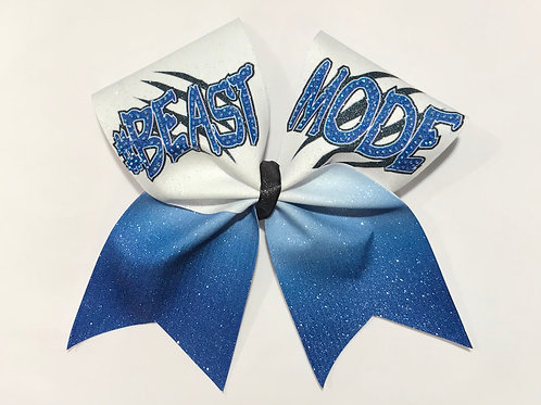 BEAST MODE Sublimated cheer bow