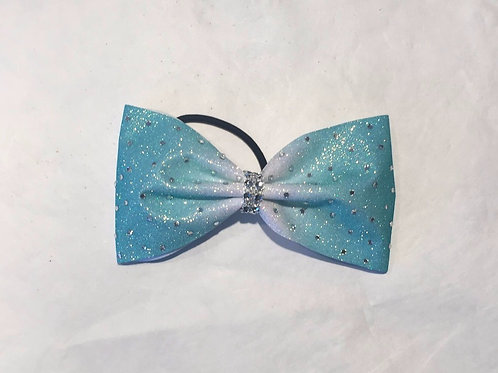 Tailless Teal Ombre Cheer Bow