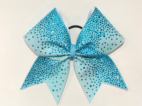 Glitter Ombre Cheer Bow with Rhinestones