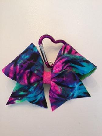 Tie dye keychain bow