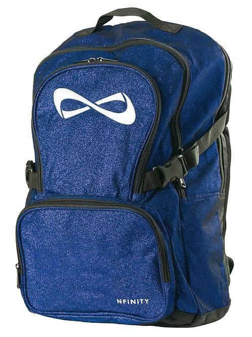 Blue Glitter Nfinity Backpack