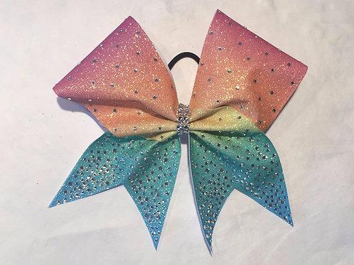 Rainbow Ombre Glitter bow