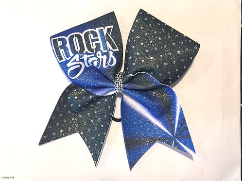Rockstars Royal  Glitter Bow with Rhinestones