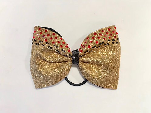 Gold glitter Tailless Bow