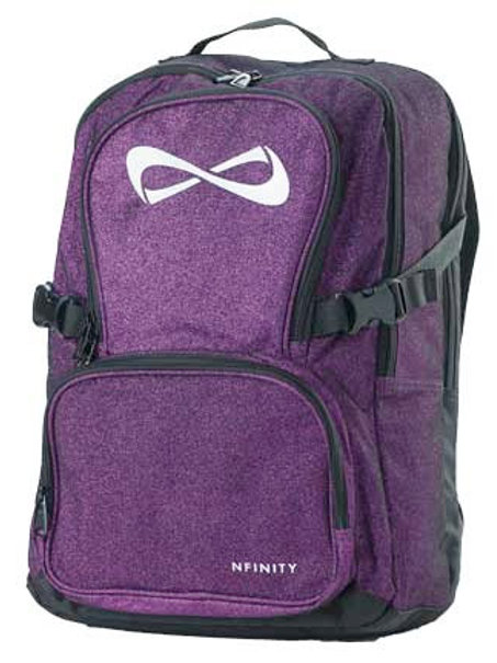 Purple Glitter Nfinity Backpack