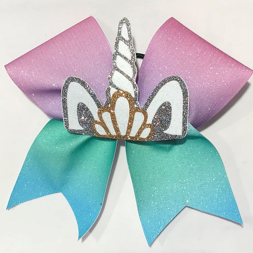 glitter unicorn bow with Tiara