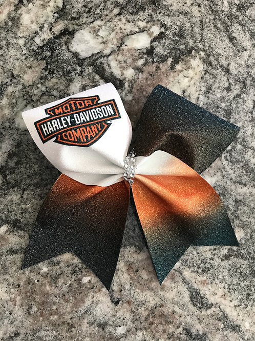 Harley Davidson Cheer Bow