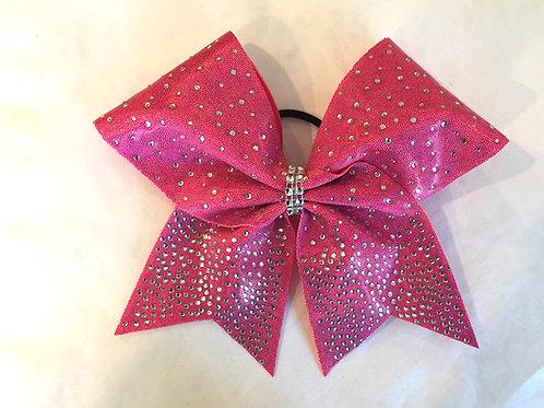 Pink Rhinestone Cheer Bow